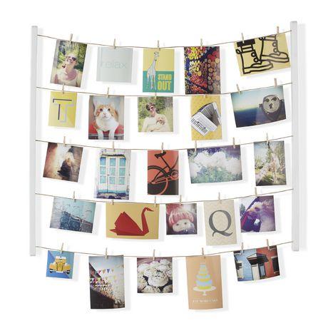 Umbra Hangit.  Pêle-Mêle Mural Hangit, Pour Environ 40 Photos, En Bois Blanc Laqué. Dimension 75,5 X 66,2 X 4 Cm - image 1 de 1