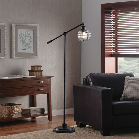 Hometrends captured glass floor lamp walmart canada for Captured glass floor lamp