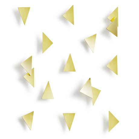 Confetti Triangles (16) Brass - image 1 of 4