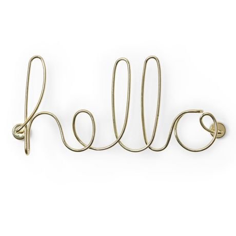 Wired Hello Brass by Umbra