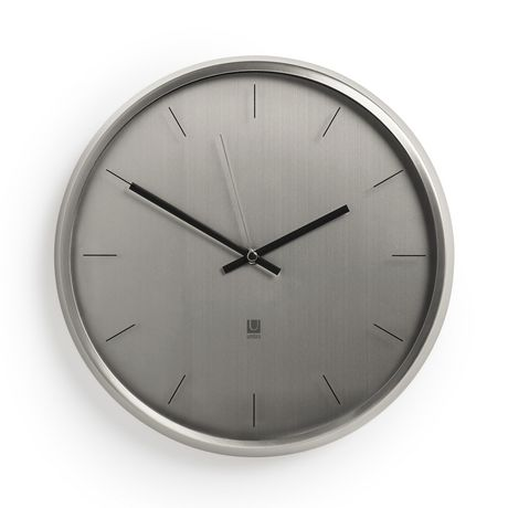 Loft Meta Wall Clock 125in Nickel Walmart Canada