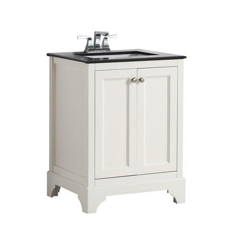 Astonishing Carlyle 24 Bath Vanity With Black Granite Top Walmart Canada Home Interior And Landscaping Ologienasavecom