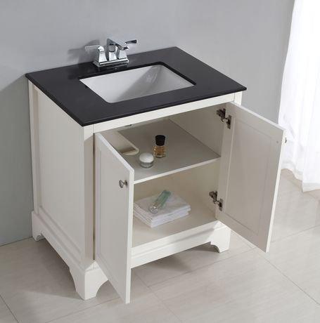 carlyle meuble lavabo 30 po avec dessus en granit noir walmart canada. Black Bedroom Furniture Sets. Home Design Ideas