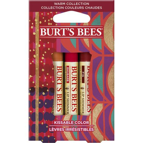 Holiday-themed pack of three Burt's Bees lip balm tubes