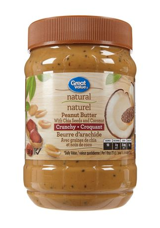 Great Value Natural Peanut Butter with Chia Seeds and Coconut - image 1 of 2