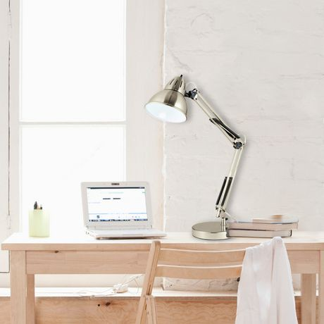 Brushed Nickel Architect Swing Arm Desk Lamp Walmart Canada