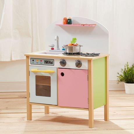 Cuisine de jeux rose avec deux portes teamson kids for Cuisine avec electromenager offert