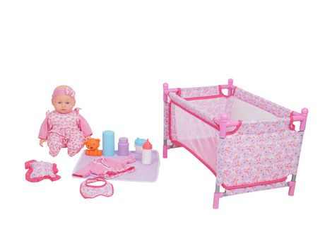 My Sweet Baby Baby Doll With Playpen Set Walmart Canada