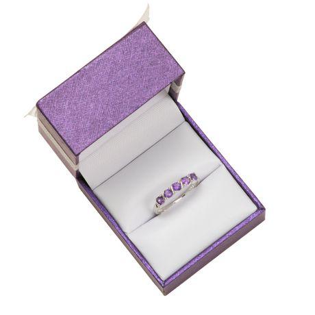 PAJ Sterling Silver Rhodium Plated Genuine Amethyst Ring - image 2 of 4