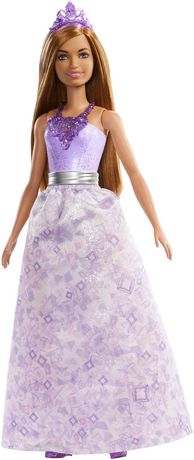 Barbie Dreamtopia Jewel Princess Doll portant une robe de bal bicolore lavande
