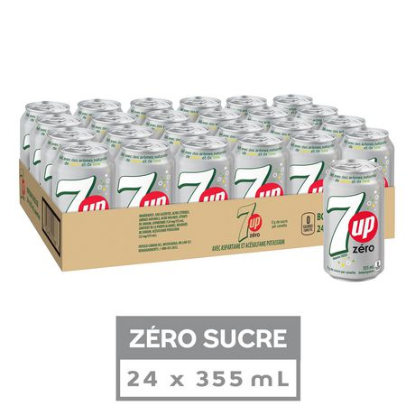 7UP Zero Soft Drink, 355 mL Cans, 24 Pack - image 2 of 3