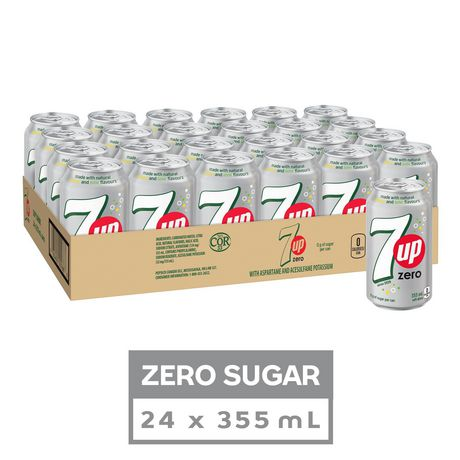 7UP Zero Soft Drink, 355 mL Cans, 24 Pack - image 1 of 3