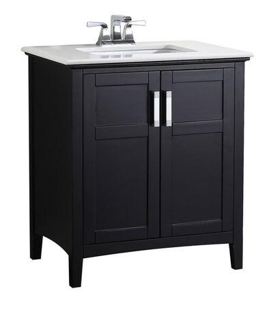 wyndenhall salem meuble lavabo 30 po avec dessus en marbre walmart canada. Black Bedroom Furniture Sets. Home Design Ideas