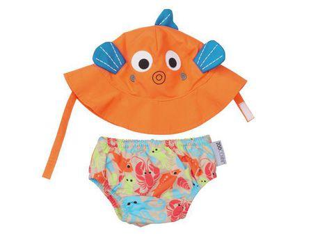 Zoocchini Swim Diaper   Sun Hat Set - Sushi  8cdf4db5feb