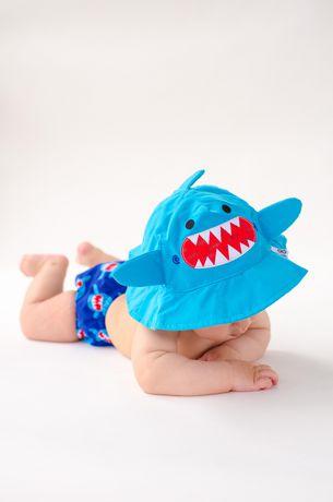 Zoocchini Swim Diaper   Sun Hat Set - Shark  519717d39dd