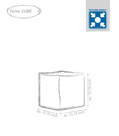 Sitting Point Cube Brava Ottoman - image 3 of 3
