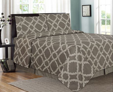 ensemble de draps imprim es 4 pi ces trellis walmart canada. Black Bedroom Furniture Sets. Home Design Ideas