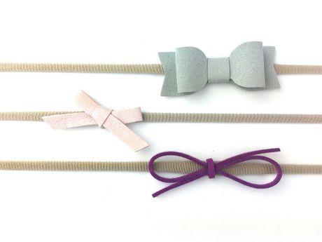 Zoocchini Baby Wisp - Headband 3 Pack Mixed Bows Gift Set Grey 719fb6b02db