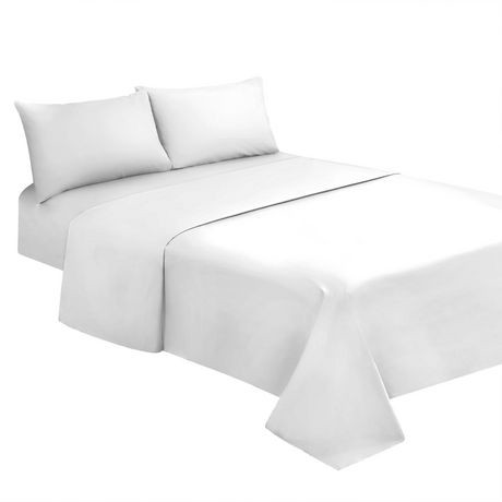 ensemble de draps 4 pi ces spa blanc walmart canada. Black Bedroom Furniture Sets. Home Design Ideas