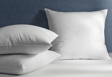 millano feather filled 100 microfiber pillow insert 18 x 18 walmart canada. Black Bedroom Furniture Sets. Home Design Ideas