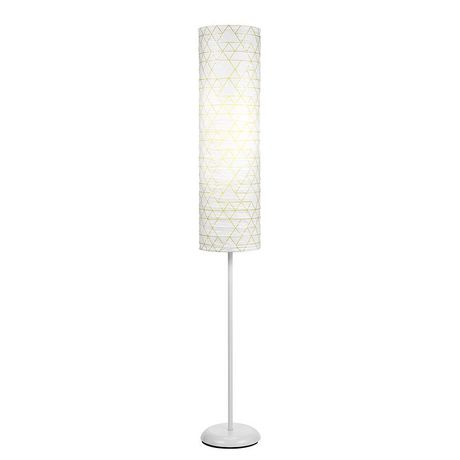 Mainstays Geo Pattern Paper Shade Floor Lamp Walmart Canada