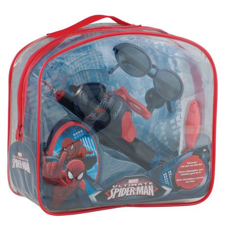 Shakespeare spiderman kids fishing backpack kit walmart for Fishing kit walmart