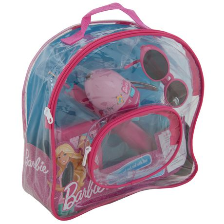 Shakespeare barbie kids fishing backpack kit for Fishing kit walmart
