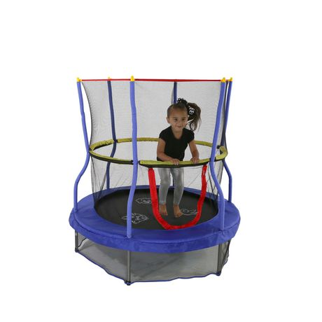 """Skywalker Sports Skywalker Trampolines 55"""" Round Bounce-N-Learn Interactive Trampoline Mini Bouncer with Enclosure And Sound - image 2 of 9"""
