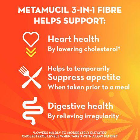 Metamucil 3 in 1 MultiHealth Fibre! Fiber Supplement Powder - image 3 of 7
