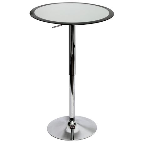 Table de bar ribbon contemporaine hauteur ajustable de for Table exterieur walmart
