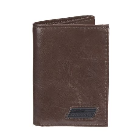 eb6ff3a9922c Genuine Dickies Men s Trifold Brown Leather Wallet - image 1 ...