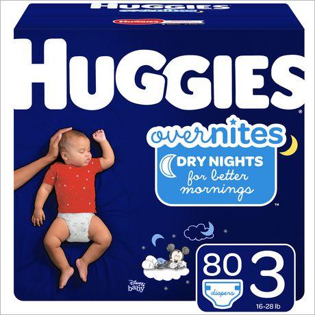 Couches HUGGIES OverNites, couches pour la nuit - image 1 de 4