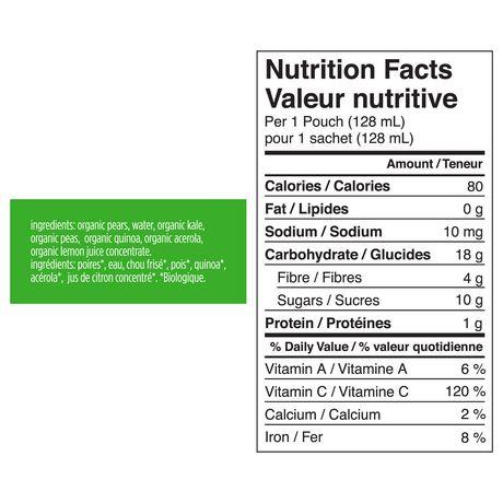 Love Child Organics  Puree - Pears, Kale & Peas - image 3 of 3