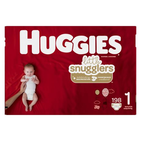 HUGGIES Little Snugglers Diapers, Econo Pack - image 2 of 3