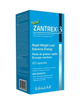 Zoller Zantrex-3 Dietary Rapid Weight Loss Supplement Capsules - image 1 of 2