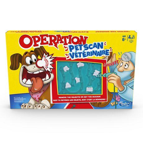 Hasbro Operation Pet Scan Board Game Multi