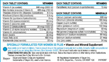One A Day Women 50 plus Multivitamin Tablets - image 2 of 2