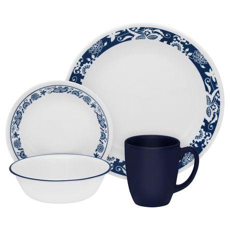 sc 1 st  Walmart Canada & Corelle® True Blue Dinnerware Set 16pc   Walmart Canada