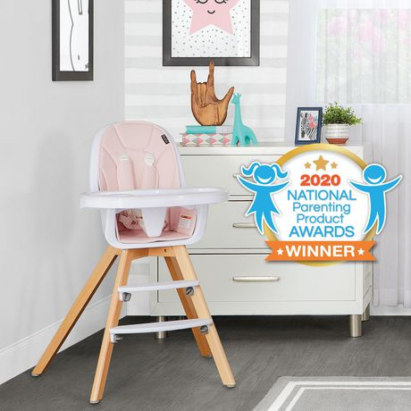 Evolur Zoodle 3-in-1 High Chair I Booster Feeding Chair I Modern Design I Toddler Chair I Removable Cushion I Adjustable Tray I Baby, Infant, and Toddler - image 5 of 9