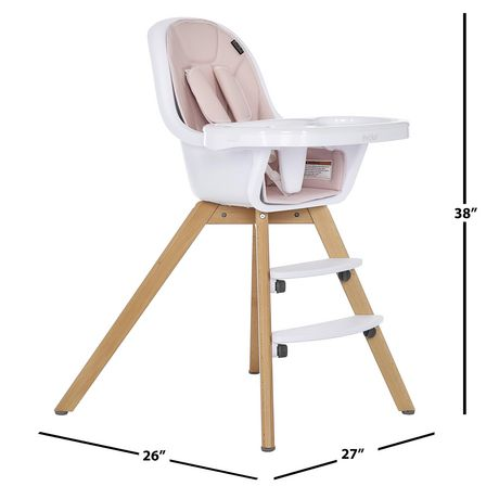 Evolur Zoodle 3-in-1 High Chair I Booster Feeding Chair I Modern Design I Toddler Chair I Removable Cushion I Adjustable Tray I Baby, Infant, and Toddler - image 9 of 9