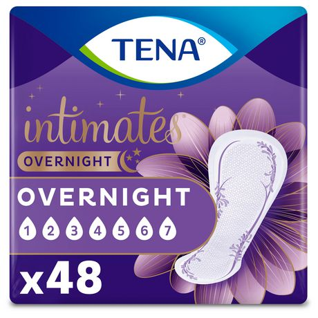 TENA Incontinence Pads for Women, Overnight, 48 Count - image 1 of 6