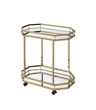 ACME Lacole Serving Cart in Champagne & Mirror - image 2 of 3