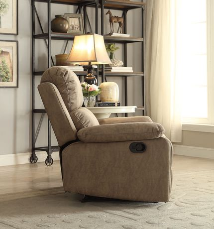 ACME Bina Recliner in Taupe Polished Microfiber - image 3 of 3