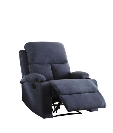 ACME Rosia Recliner in Blue Velvet - image 2 of 3