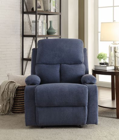ACME Rosia Recliner in Blue Velvet - image 3 of 3
