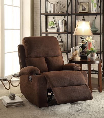 ACME Rosia Recliner in Chocolate Velvet - image 1 of 2