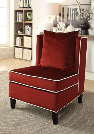 Acme Ozella Accent Chair In Red Velvet Walmart Canada
