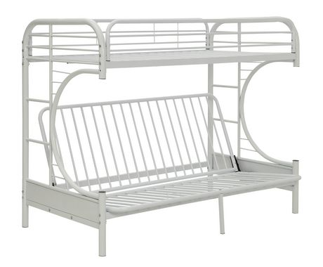 Acme Eclipse Twin Xl Over Queen Futon Bunk Bed In White Walmart Canada