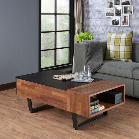 Table à café Sara II d'ACME, noyer et noir cendré - image 1 de 3