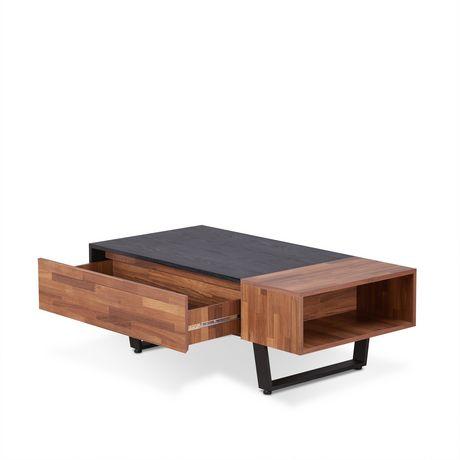 Table à café Sara II d'ACME, noyer et noir cendré - image 2 de 3
